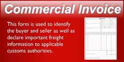 Commercial Invoice Button