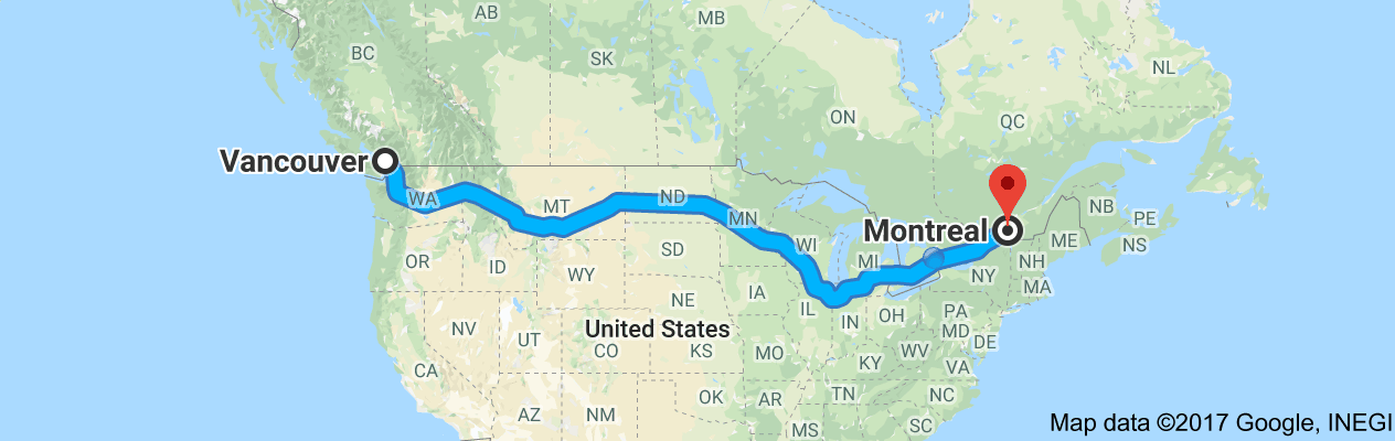 shipping from vancouver to Montreal
